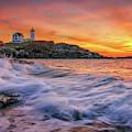 Dawn At Cape Neddick Lighthouse by Kristen Wilkinson