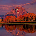 Dawn Light Mount Moran Oxbow Bend Grand Tetons Np  by Dave Welling