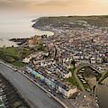 Dawn Over Aberystwyth Wales by Keith Morris