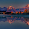 Dawn Reflections Tetons Oxbow Bend Grand Tetons Np  by Dave Welling