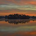 December Sunrise Over Spring Lake by Beth Sawickie
