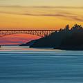 Deception Pass Bridge Sunset Light by Mike Reid