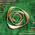 Deco Design 2 On Emerald by Chuck Staley