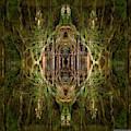 Deep Jungle Temple With Lanterns by Sandra Nesbit