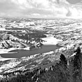 Deer Valley Endless Views Black And White by Adam Jewell
