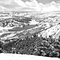 Deer Valley Mountain Views Black And White by Adam Jewell