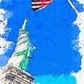 Defending Liberty Watercolor By Ahmet Asar by Ahmet Asar