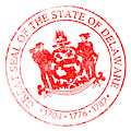 Delaware Seal Stamp by Bigalbaloo Stock