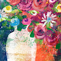 Delightful Bouquet 2- Art By Linda Woods by Linda Woods