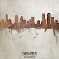 Denver Colorado Rust Skyline by Michael Tompsett