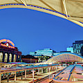 Denver Union Train Station Morning Panoramic by Gregory Ballos