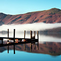 Derwentwater Landing Stage.  The by Atgimages