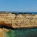 Deserta Beach Scene In Algarve by Angelo DeVal