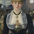 Detail From A Bar At The Folies-bergere by Edouard Manet