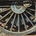 Detail Of Locomotive Wheel With Spokes by Victor Lord Denovan