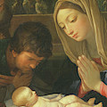 Detail Of The Adoration Of The Shepherds By Guido Reni by Guido Reni