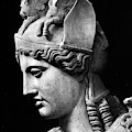 Detail Of The Face Of Athena Farnese by Phidias