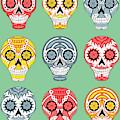 Dia De Muertos Skulls by Mark Gillespie