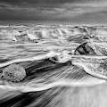 Diamond Beach Iceland Iv Bw by Joan Carroll