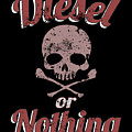 Diesel Or Nothing Truck 4x4 Power Fuel Skull Red by Henry B