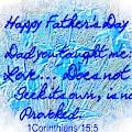 Digital Floral Etching Father's Day by Debra Lynch