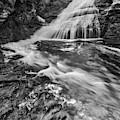 Dingmans Water Falls Dwg Bw by Susan Candelario