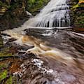 Dingmans Water Falls Dwg by Susan Candelario