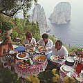 Dining Al Fresco On Capri by Slim Aarons