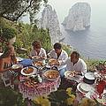 Dining Al Fresco On Capri by Slim Aarons