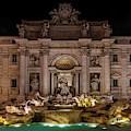 Ditrevi Fountain At Night by Jaroslaw Blaminsky