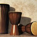 Djembe And Djun Drums by Daniel Eskridge