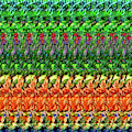 Dna Autostereogram Qualias Christmas 1 by Russell Kightley