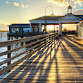Dock Shadows On Jekyll Island II by Debra and Dave Vanderlaan