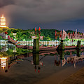Docked Dragon Boat At Night II by William Dickman
