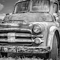 Dodge Farm Truck Bw by Keith Smith