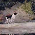 Dog On A Log, 1889  by Winslow Homer