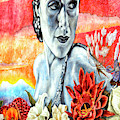 Dolores Del Rio Mural Hollywood California by John Rizzuto