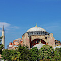 Dome And Minarets Of Hagia Sophia by Steve Estvanik