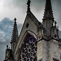Doncaster Minster Main Window With Gray Sky by Scott Lyons