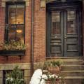 Doorways In Winter - Beacon Hill by Joann Vitali