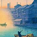 Dotonbori Morning - Top Quality Image Edition by Kawase Hasui