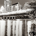 Downtown Austin Skyline Over Lady Bird Lake - Sepia Edition by Gregory Ballos