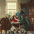Drafting The Declaration Of Independence In 1776 by Newell Convers Wyeth