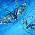 Dragonfly Two In Blue by J Vincent Scarpace