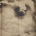 Dragons And Clouds, Edo Period by Tawaraya Sotatsu