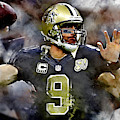 Drew Brees by Marvin Blaine