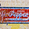 Drink Dr. Pepper Sign by Garry Gay