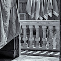 Drying Napkins Black And White by Tom Singleton