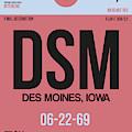 Dsm Des Moines Luggage Tag I by Naxart Studio