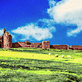 Dunstanburgh Castle In Oil by Nigel Dudson